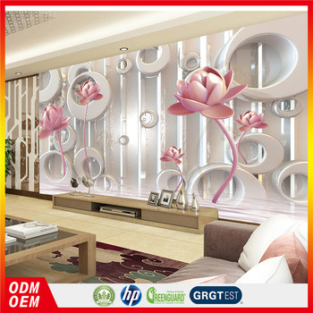 3d Lotus Silk Wallpaper For Spa Decoration 3d Wall Papers Home Decor