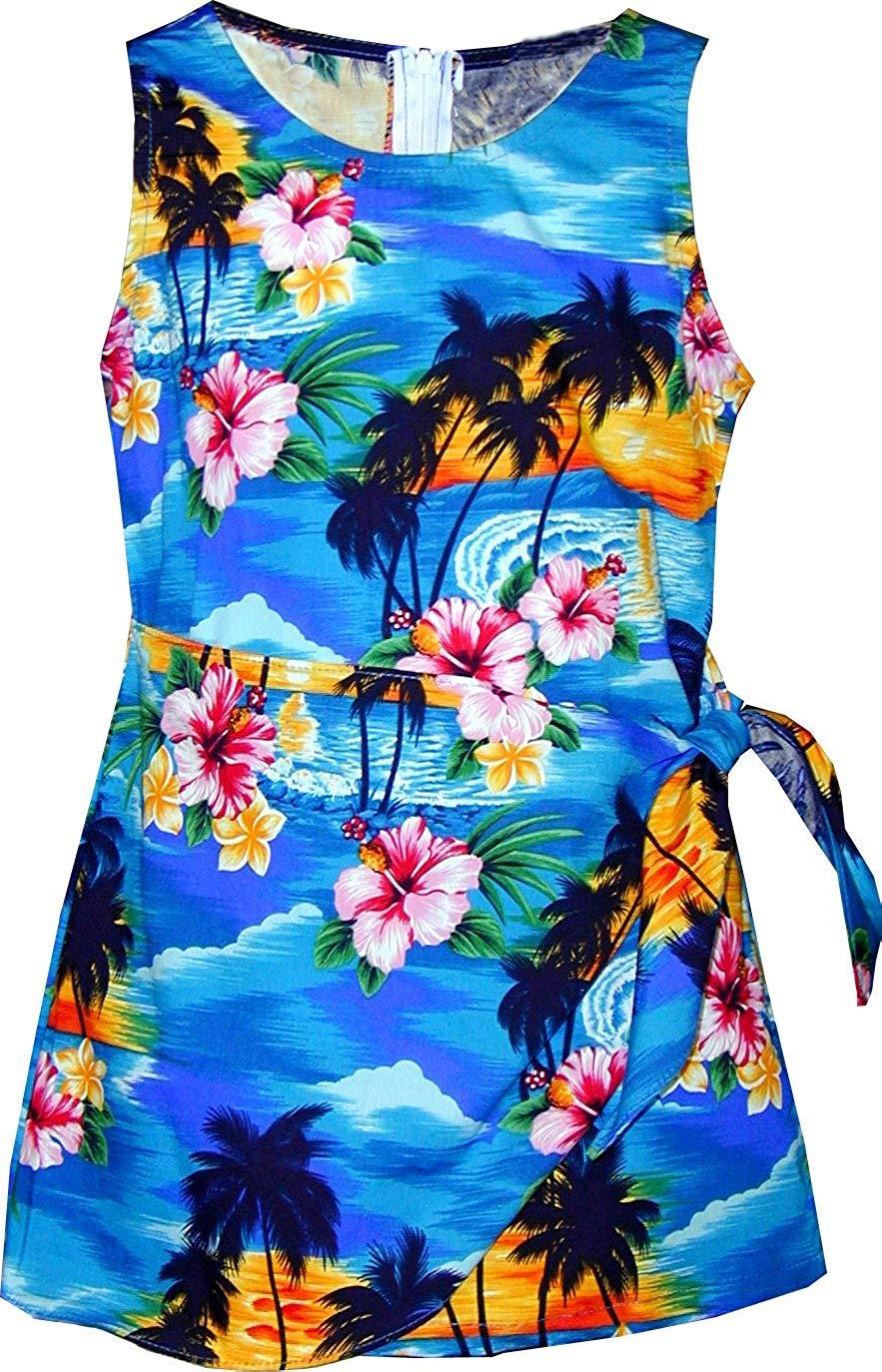 fa4b8329bf6 RJC Brand Hibiscus Pareo Girl s Hawaiian Sarong Dress · Pacific Legend Girls  Brilliant Hawaiian Island Sunset Sarong Dress