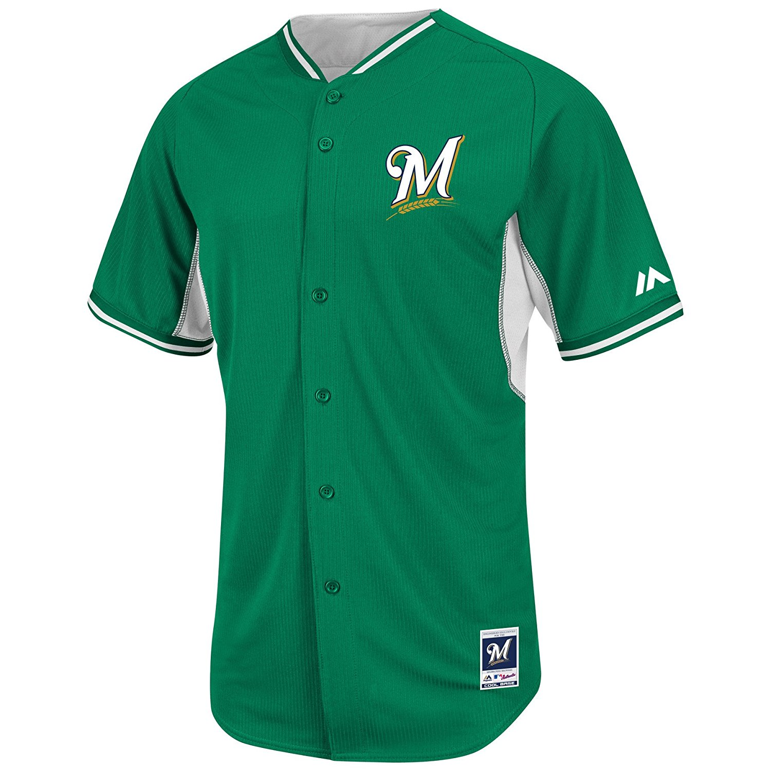 4ea9e3625 Get Quotations · Milwaukee Brewers Kelly Green Batting Practice Jersey by  Majestic Select Jersey Size  40 - Small