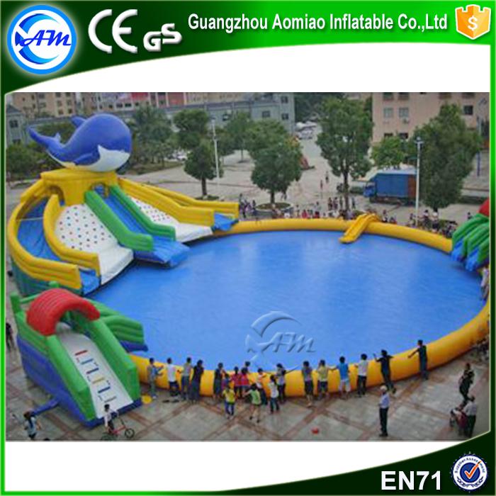 Gigante inflable de atracciones piscinas inflables plátano flotador ...