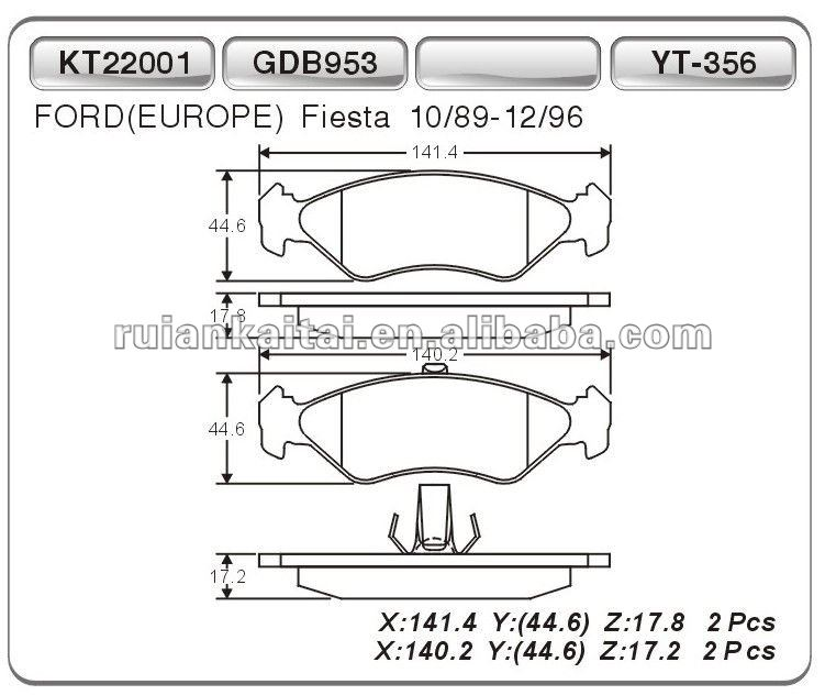 ceramic brake pad for Ford cars