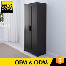 New Technology Solid Wood Bedroom Furniture Corner Wardrobe Closet
