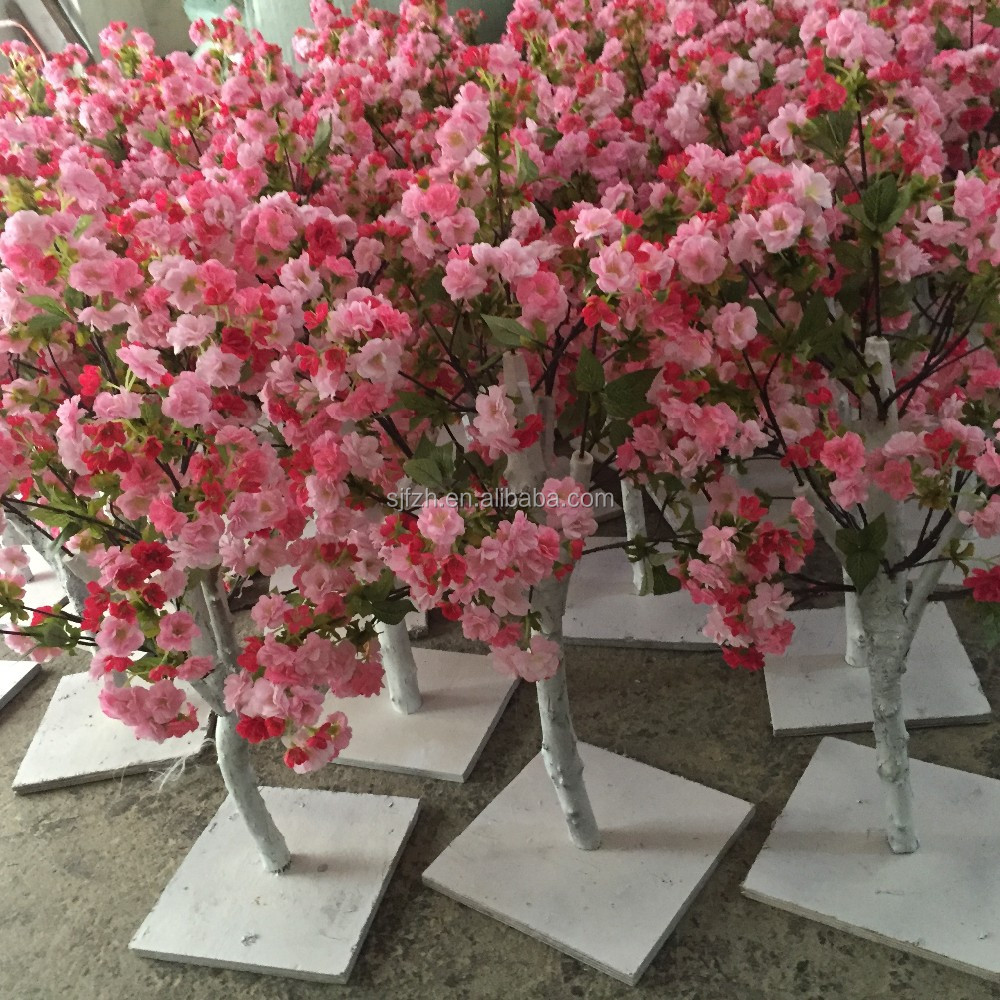 Hot sale decorative centerpieces small table wedding blossom trees hot sale decorative centerpieces small table wedding blossom trees white pink artificial cherry flower tree mightylinksfo