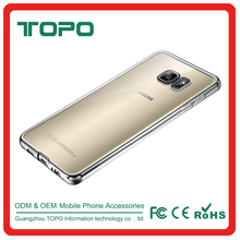 Transparent electroplating TPU Mobile cell Phone cover Case For Samsung Galaxy S4 S5 S6 S6edge S6edge plus S7 S7edge J1 J1mini