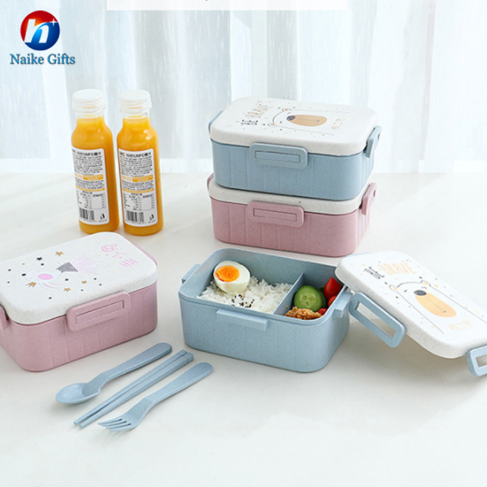 2019 Lunch box 2 layers all - in -one stackable food container multiple function bento box