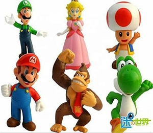 6 PCS Super Mario Bros Action Figures Toy Set PVC Toy Figures for Kids & Adults Premium Cake Toppers Great Geek Present