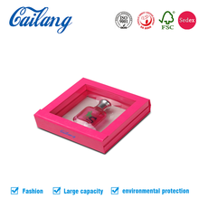 High-end Custom Design Cosmetic Folding Paper Gift Box For Perfume Packaging Present With Window