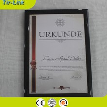 custom A4 A5 plastic poster frames certificate frames /clear plastic for picture frames/plastic picture frames wholesale