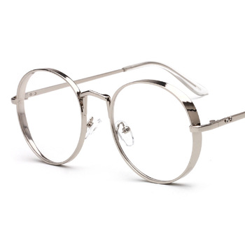 2017 New Arrival Metal Frame Eyewear Fashion Round Thick Alloy Clear ...