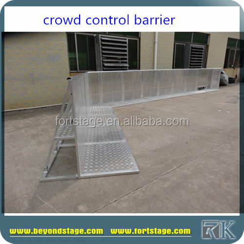 RK Hotel Queue Up Stand Crowd Control Barrier/Folding aluminum crowd barrier