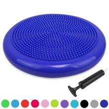 Runde Aufblasbare Extra Dicke Wobble PVC <span class=keywords><strong>Air</strong></span> Kissen mit Pumpe Luft Massage Disc Matte