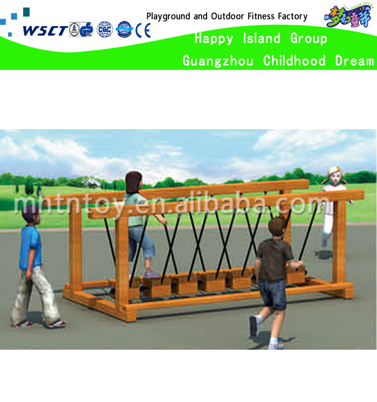Holz Klettergerüst Kinder Freien Hölzerne Stumpf Schwingen Brücke ...