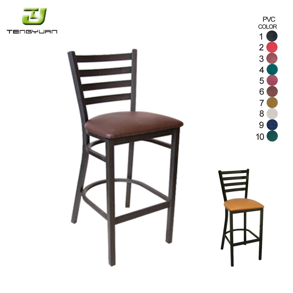 Modern metal high bar stool chair for bar table