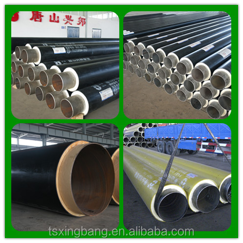Pre-insulated steel duct pu filled underground waterproof thermal insulation pipe