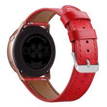 Tschick для samsung Galaxy Watch Active band, 20 мм быстросъемный роскошный ремешок из натуральной кожи для Galaxy 42 мм(Китай)