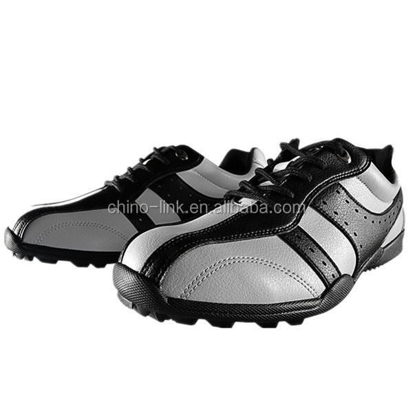 men genuine leather professional golf shoes sports shoes