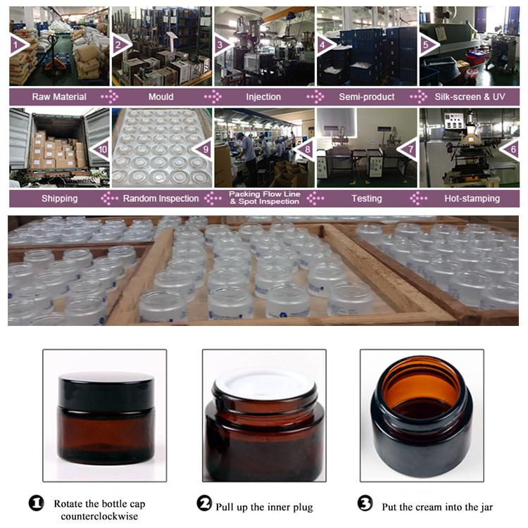 עגול 12 oz אטום זכוכית צנצנות עם שחור מתכת מכסה-קנינג צנצנות ריבה, דבש, תבלינים
