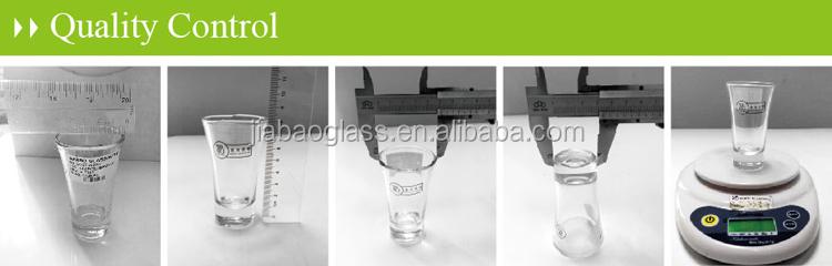 En gros Maison potable impression de décalque logo design personnalisé petite vodka mini tequila Split Tasse Unique Verre À Liqueur Imprimé