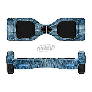 The Wrinkled Jean texture Full-Body Wrap Skin Kit for the iiRov HoverBoards and other Scooter (HOVERBOARD NOT INCLUDED)