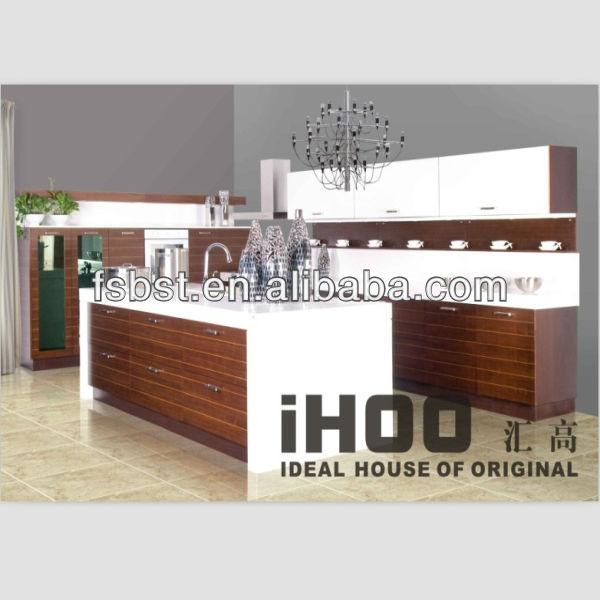 Ak04 diseño moderno de madera de nogal americano mueble cocina ...
