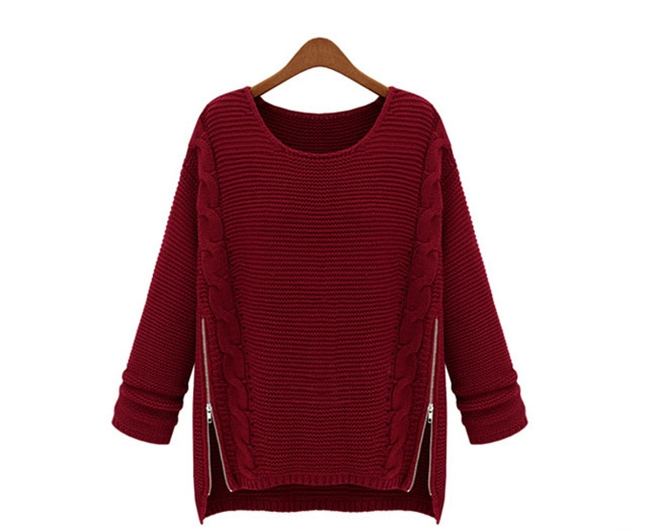 10d679579f9 Get Quotations · New Design O-neck Sweaters Solid Navy Wine Red Autumn  Winter Pullovers Plus Size