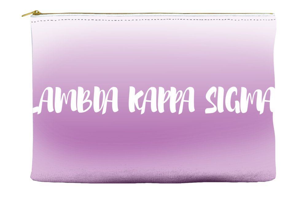 Lambda Kappa Sigma Ombre Sunset Purple Cosmetic Accessory Pouch Bag for Makeup Jewelry & other Essentials