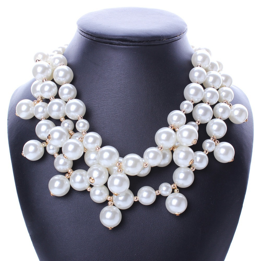 Pearl Necklace Styles: 2015 New Collar Imitation Pearl Jewelry Necklace Women