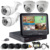 1MP 2MP Home security hd system 4ch ahd dvr kit with 10.1inch monitor