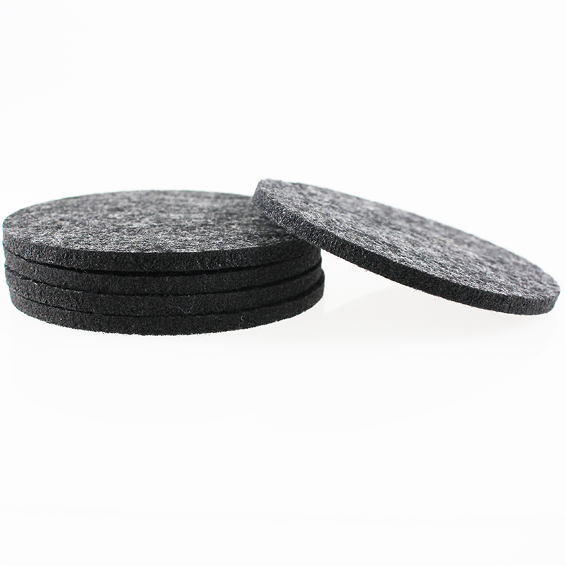 wholesale cheap heat insulation round wool felt cup pad / cup mat / plate coaster