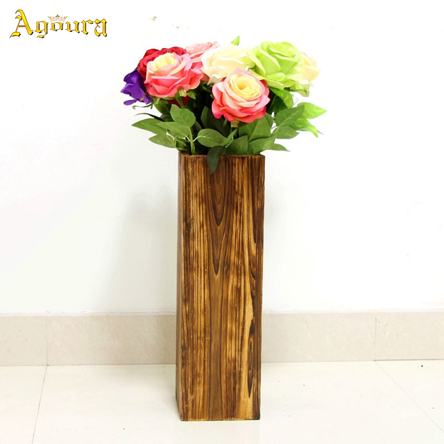 2019 Hot Selling Multi-dimension Antiseptic Fir Wood Flower Pots Middle Size 11CM