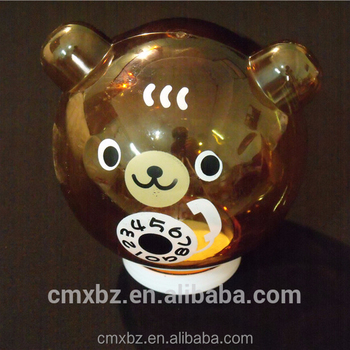 Bear shaped bottle jar wholesale acrylic plastic candy container