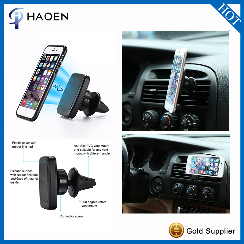 Magnetic Phone Mount Air Vent Universal Car Mount Holder 6 Magnet Core Car Vent Phone Holder GPS Mount in Car Air Vent Holder