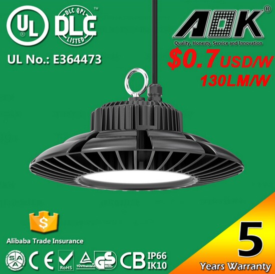 200w UFO High Bay Light Waterproof LED Highbay Warehouse Light Replacement