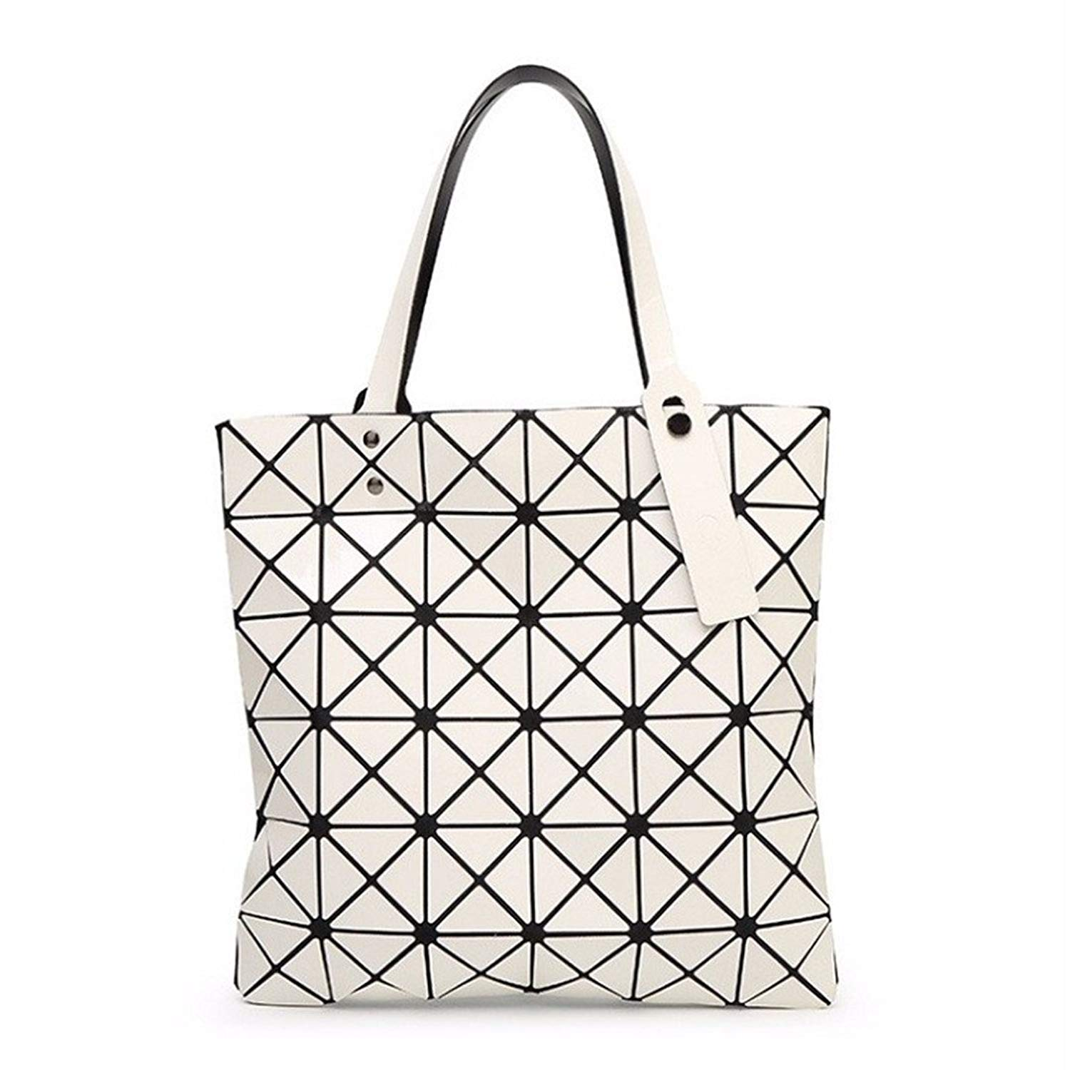 85c5b037c5ab Get Quotations · Female Folded Geometric Plaid Bag BAO BAO Fashion Casual Tote  Women Handbag Mochila Shoulder Bag