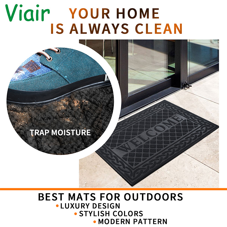 OEM 30*80/36*24inch Large Low-Profile Non-Slip  custom outdoor mat outside door mat