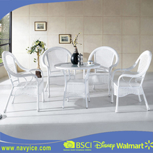 Modern Outdoor Backyard Wicker Rattan Patio Dining Set Furniture Garden PE Rattan Dining Table and Chair Furniture
