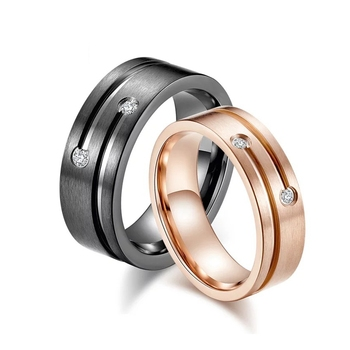 2018 New Fashion Diy Couple Jewelry Brushed Surface Black Gold Rose Gold Stainless Steel Wedding Rings For Women Men Buy Cnc Jewelry Machine Wedding