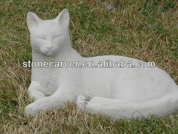 Garden Cat Stone Statue