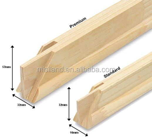 Wooden Canvas Frame /stretched Canvas Bar / Diy Stretcher Bar Kit ...