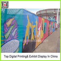 trade Show celebration halloween and assembly activity mesh banner printing/Perforated flex banner/Full color fence mesh ow09