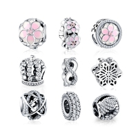 LZESHINE Authentic 925 Sterling Silver Beads Charms For Charms Bracelet Necklace Silver Charms Jewelry Accessories wholesale