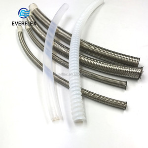 flexible half inch hydraulic black stainless braided ptfe hose assembly wholesale price