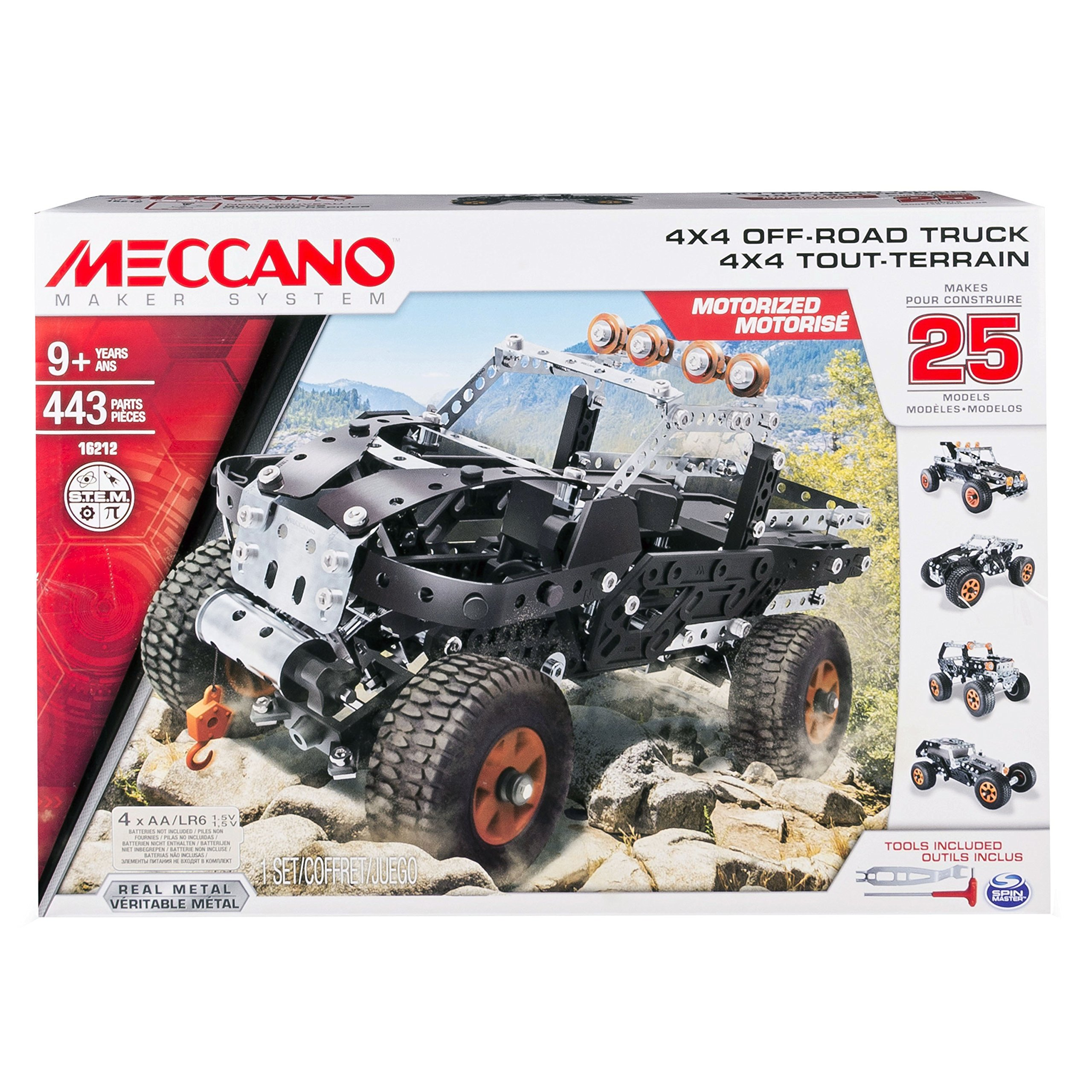Cheap Off Road 4x4 Find Deals On Line At Alibabacom Motor Reversing Switches Electronics In Meccano Get Quotations Erector By Truck 25 Model Building Set 443 Pieces