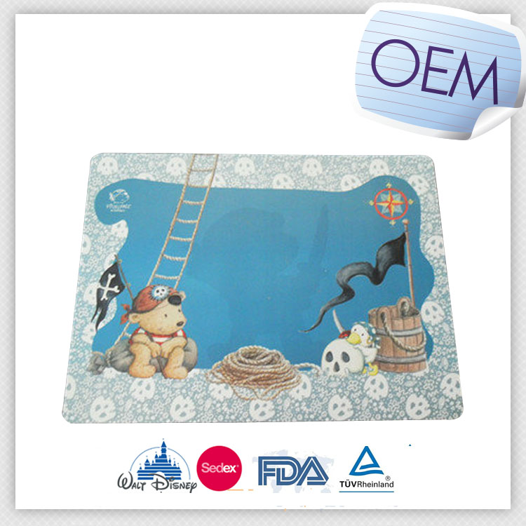 Customized child eco-friendly plastic PP placemats/Eva placemats