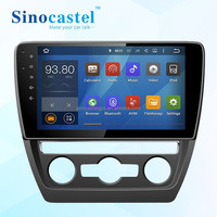 4-Core Rearview Mirror Car DVR Multimedia Player With GPS Navigator For VW Sagitar 2015
