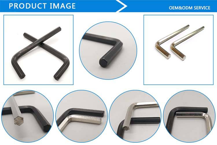 China high quality double open end metal hex wrench