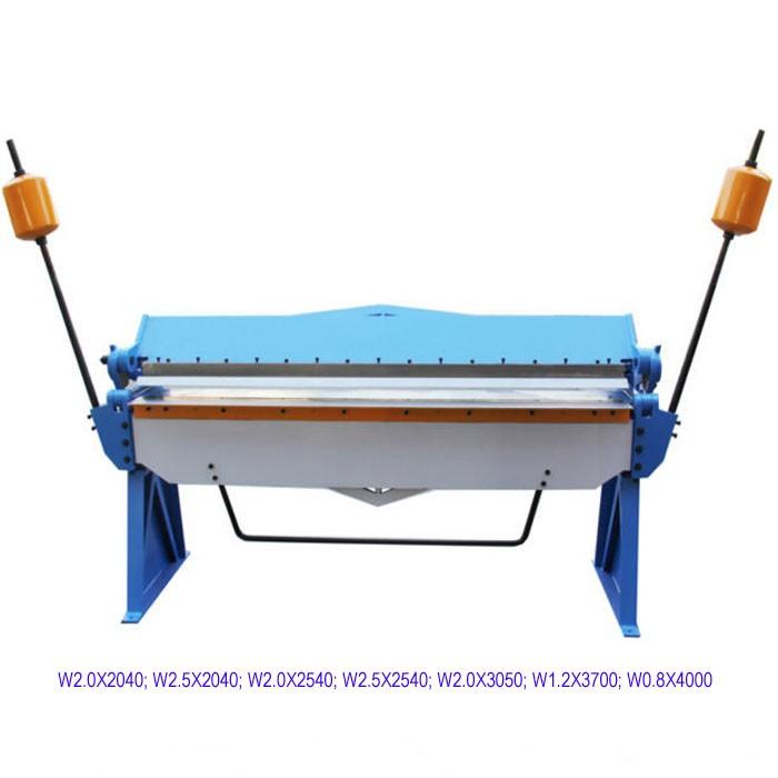 W2 0x2040 Hand Brake Sheet Metal Manual Bending Machine