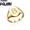 Initial 18k Gold Cheap signet ring