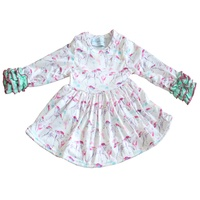2019 autumn newest baby girl dresses Fabric long sleeves children print cotton frocks designs
