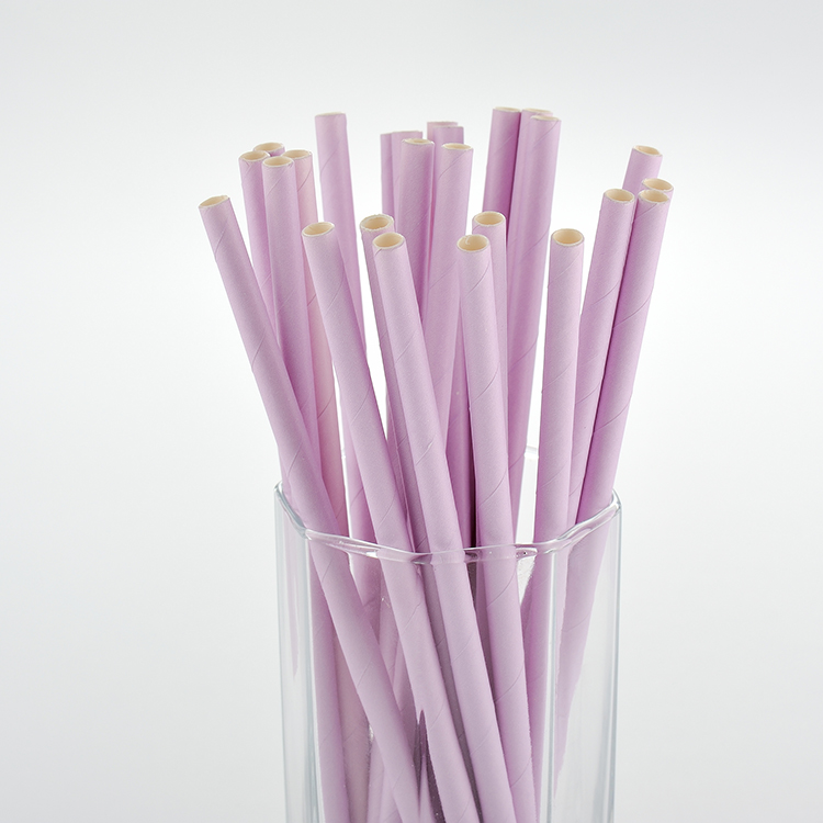 Custom Logo Solid Colored Paper Drinking Straws For Restaurant Or Tea Shop